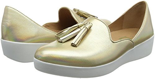 Oro Mocassini Superskate Donna Tassel Fitflop 536 D'orsay Iridescent Loafers gold wIgRWYq