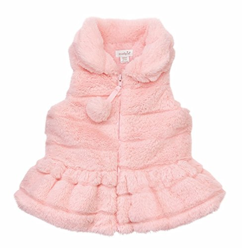 Mud Pie Baby Girl's Ruffle Fur Vest (Infant/Toddler) Pink Small