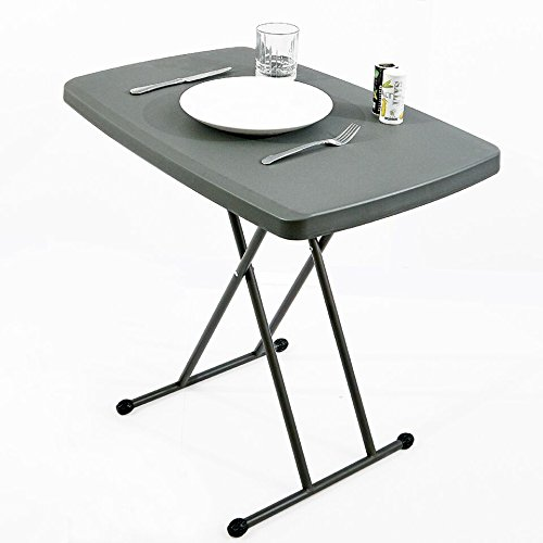 Iceberg 65491 Indestructible Too 1200 Series Resin Personal Folding Table 30 x 20 Charcoal by Iceberg (Image #4)