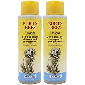 Burt's Bees for Puppies All-Natural Tearless 2 in 1 Shampoo and Conditioner, 16 Ounces