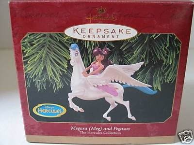 Megara (Meg) And Pegasus The Hercules Collection 1997 Hallmark Keepsake ornament (Meg Disney)