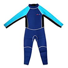 MagiDeal Children Kids Toddler Long Sleeve Surfing Swimming Diving Wetsuit Jumpsuit for 85cm-150cm Height Childrens