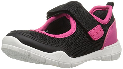 Carter's Girls' Paju Athletic Maryjane Mary Jane Flat, Black/Pink, 6 M US Toddler (High Top Jane Mary)