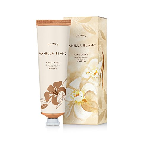 Thymes - Vanilla Blanc Hand Crème - Deeply Moisturizing Cream with Warm Madagascar Vanilla Scent - 3 oz