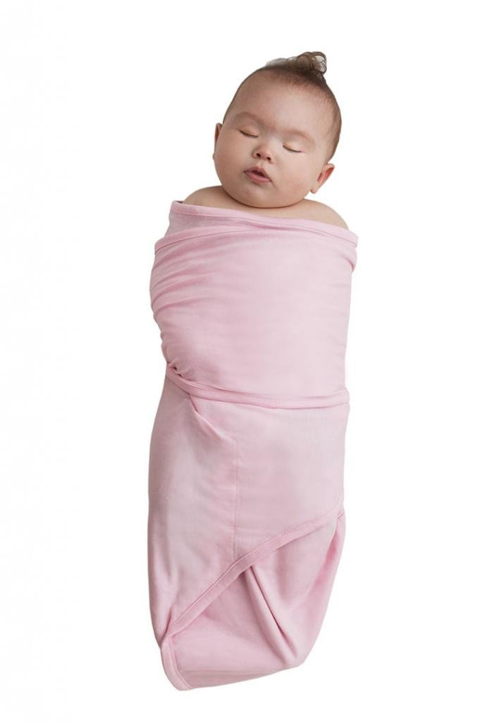 Amazon Com Miracle Blanket Baby Swaddle Pink With Brown Polka Dots