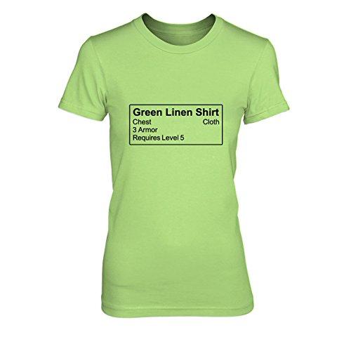Shirt Item - Damen T-Shirt, Größe: XL, Farbe: hellgrün