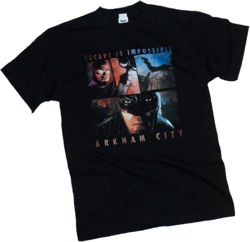 Escape Is Impossible -- Batman Arkham City Adult T-Shirt, XXX-Large Batman Arkham Asylum Escape