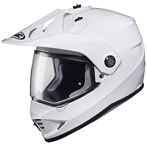 LARGE HJC DS-X1 Full Face DOT Motorcycle Helmet Dual Sport w/Visor White Solid by HJC Helmets