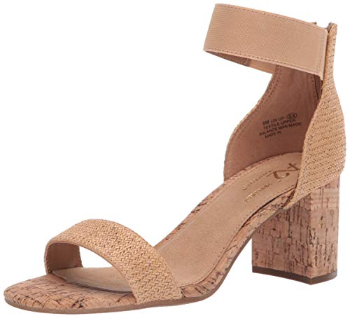 LINE UP Heeled Sandal, tan Fabric, 12 M US ()