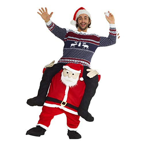 Morph Unisex Piggy Back Santa Claus Piggyback Costume - With Stuff Your Own Legs ()