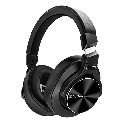 Active Noise Cancelling Headphones, Srhythm Bluetooth Headset with Microphone Hi-Fi Stereo Deep Bass Wireless Headphones Over Ear for iPhone/Android/PC/TV-Black by Srhythm