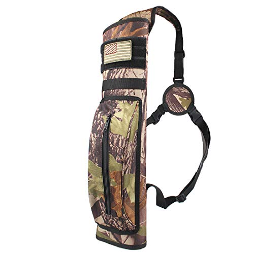 (KRATARC Archery Multi-Function Back Arrow Quiver Shoulder Hanged Target Shooting Quiver for Arrows (Camo (for Right-Handed)))