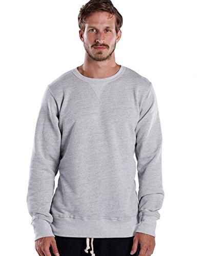 Blend Ash Shirt (US Blanks Men's Premium Tri-Blend Long Sleeve Pullover Crew XL Ash Heather Grey, Made In USA)