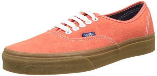 Vans Ua Authentic, Zapatillas para Hombre Naranja (Washed Canvas Cherry Tomato/gum)