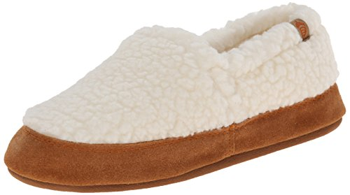 ACORN Women's Moc Slipper,Buff Popcorn,Medium/6.5-7.5 M US