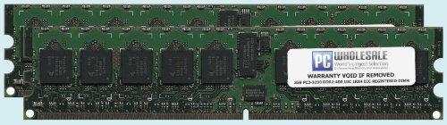 Hp Rdimm Memory - HP 4GB [2x 2GB] PC2-3200 DDR2-400 1Rx4 ECC Registered RDIMM Memory Kit (HP PN #343057-B21)