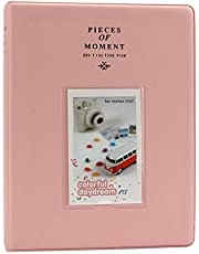 CELION 128 Pockets Photo Album for Fujifilm Instax Mini 11 9 8+ 8 7s 25 26 50s 70 90 (Pink A)