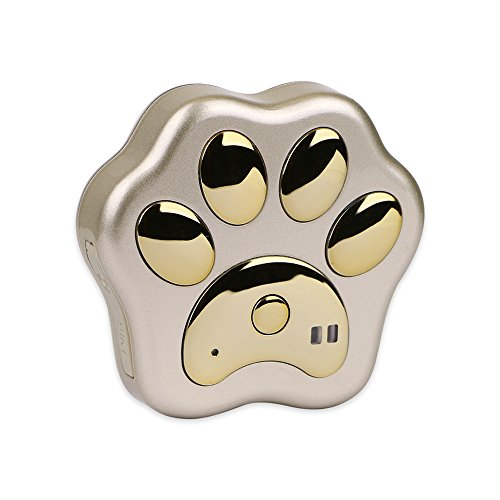 3G GPS Tracker Dog GPS Locator No Monthly Fee Cat Pet Real Time Tracking Device GPS+LBS+WiFi+AGPS Positioning Free Web APP Track (Gold Tracker)