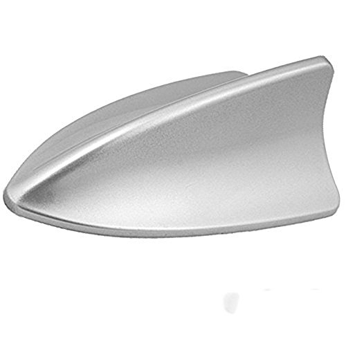 ZYHW Car Roof Mounted Silver Tone Plastic Shark Fin Antenna Ornament