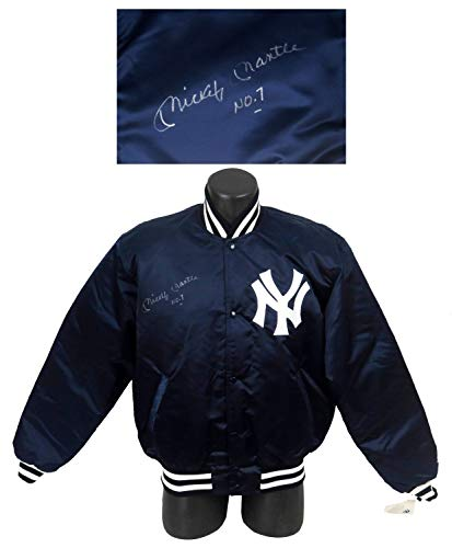 - Rare Mickey Mantle No 7 Autographed Signed Authentic New York Yankees Jacket With Memorabilia JSA