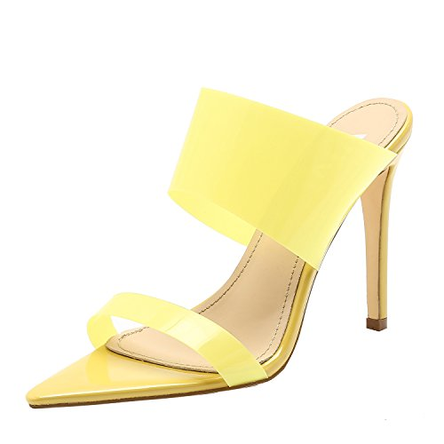 90d0c9f60857 Vivi Womens Fashion Sexy High Pointed Toe Heels Slip on Dress Sandals