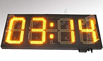 "GOWE grande 1 ""amarillo luz LED Digital reloj de pared"