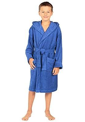 Texere Boy's Hooded Terry Cloth Bathrobe (Splash) Cute Gifts for Boys