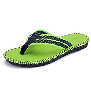 WHPSTZ EUR40-46 Men's Or Women's Orthopedic Sandals Large Arch Support Fashion Beach Slippers Sandals for Plantar Fasciitis Flip Flops (Color : Green, Size : 40 EU)