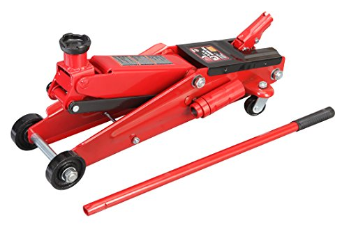 Jack Floor Auto (Torin Big Red Hydraulic Trolley Floor Jack: SUV / Extended Height, 3 Ton Capacity)