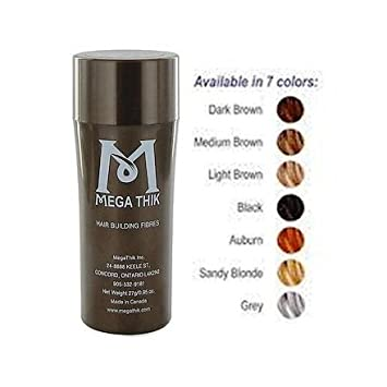 Megathik Hair Building Fibers 27 Grams Medium Brown Color