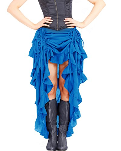 ThePirateDressing Steampunk Victorian Gothic Womens Costume Show Girl Skirt (Hawaiian Ocean) - Steampunk Blue