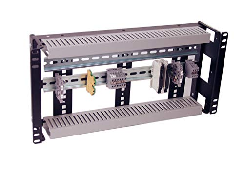 IRP1053D 5U Rackmount 3.78 inch Low Profile DIN Rail Panel for Industrial Standard 19 inch 2-Post Relay Rack or 4-Post Rack Cabinet (5u Rail)