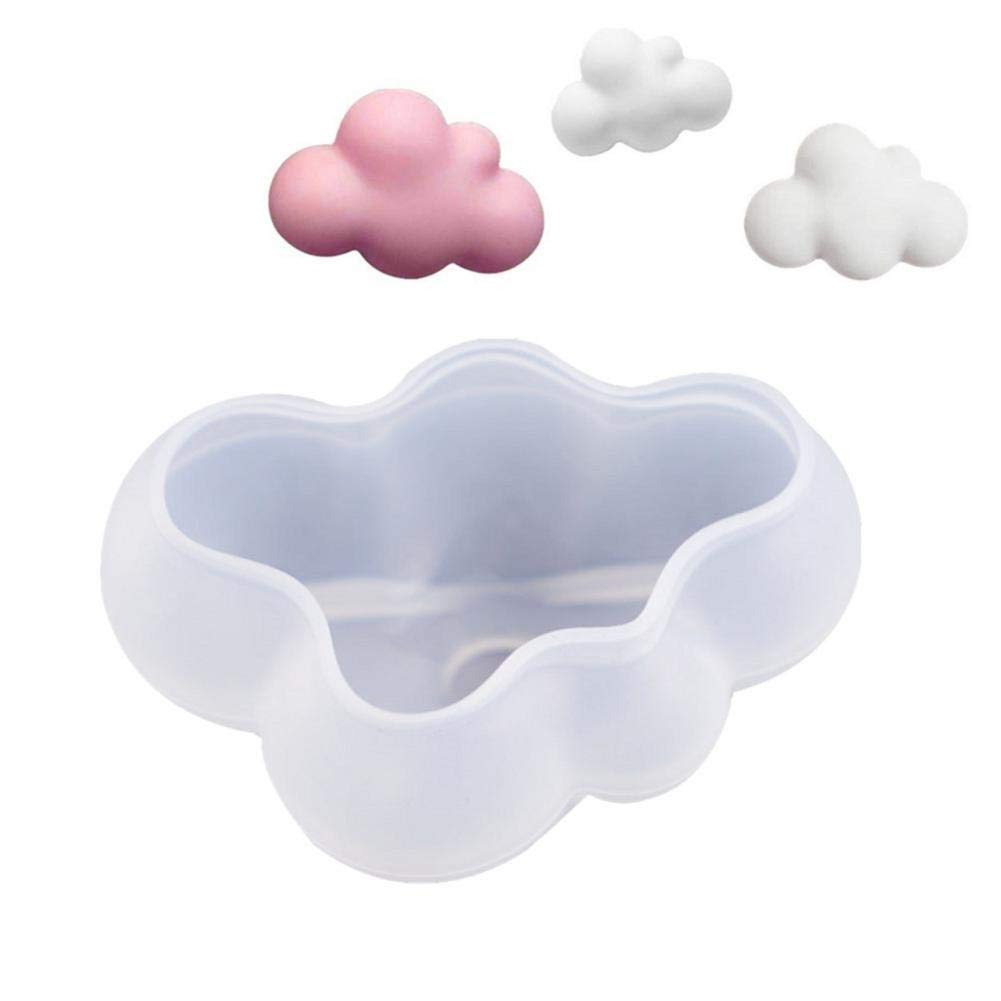 3D Cloud Silicone Mold for Fondant, Chocolate, Candy, Candle, Soap, Bath Bomb, Lotion Bar, Plaster - DIY Cloud Shape…