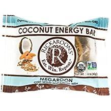 Rickaroons Megaroon Vegan, Gluten Free, Certified Organic Coconut Energy Bars, 1.6 Ounce (12 Count)