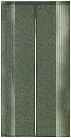 Narumi Vertical Stripe Cotton Cloth Japanese Noren Curtain Tapestry Dark Green