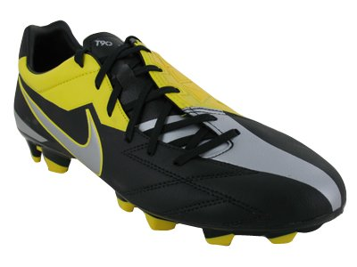 Nike Men's NIKE T90 STRIKE IV FG SOCCER CLEATS 9.5 (BLACK/MTLC LUSTER/TOUR  YELLOW) - Buy Online in UAE. | Apparel Products in the UAE - See Prices, ...