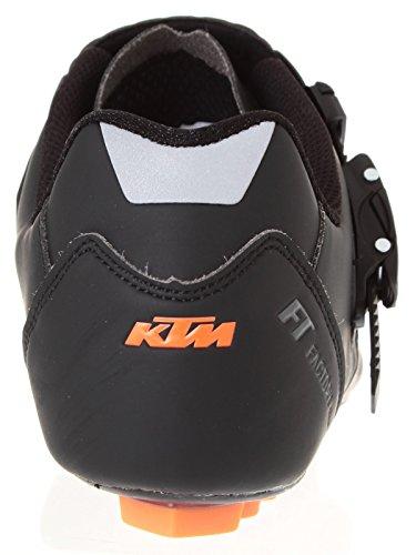SCARPE BICI KTM IN CARBONIO NERE/ARANCIO TAGLIA 42