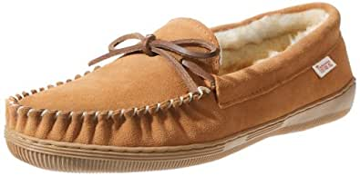Tamarac by Slippers International 7161 Men's Camper Moccasin,Tan,7 M US