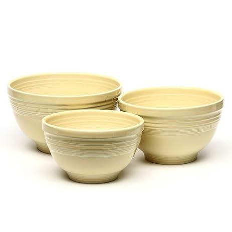 Amazon.com: Fiesta 3-Piece Baking Bowl Set, Ivory: Kitchen & Dining