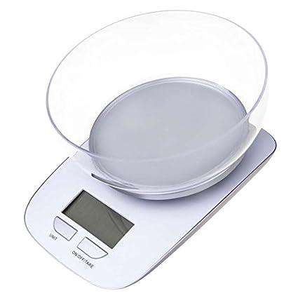Bascula Balanza de Cocina para pesar Alimentos Multifuncional Digital 5Kg EV017