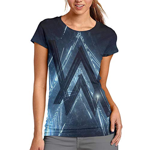 Alan Walker XL Short Sleeve Women's 3D Print Shirt Womens 3D Print Tee Top T-Shirt