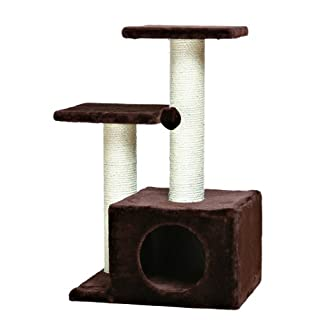 TRIXIE Pet Products Valencia Cat Tree, Chocolate Brown