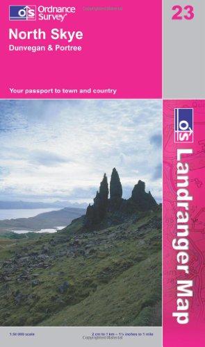 North Skye, Dunvegan and Portree (OS Landranger Map Series)