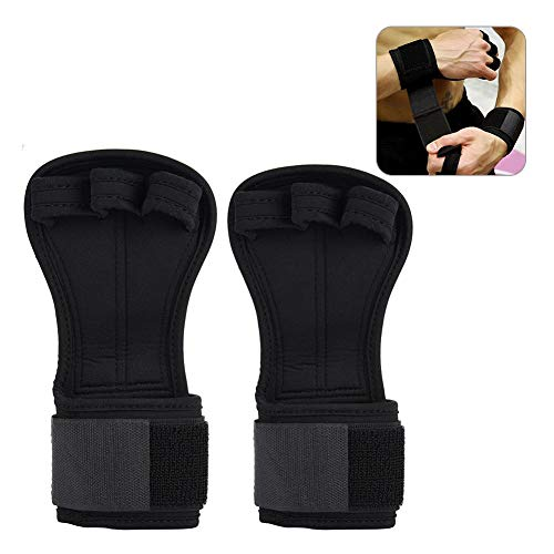 Fitness Gloves, Weight Lifting Dumbbells, Non-Slip Pressure, Breathable, Three-Finger, Palm Guards, Wristbands (L)