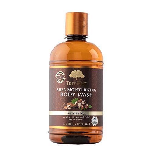 Tree Hut Shea Moisturizing Body Wash, Brazilian Nut, 17 Fluid Ounce