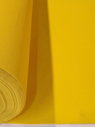 Yellow Flocked Velvet Fabric for Upholstery Craft Curtain Drapery Material Sold by the Yard at 54 inch Wide