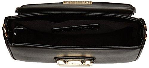 Stonefly Bauletto Lucy, Borsa Modello Bowling Donna, colore nero (schwarz 000 black), taglia 25.5x21x15 cm (B x H x T)