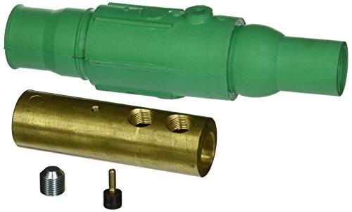 Leviton 19D24-G Female Plug, Cam-Type Detachable, Double Set Screw Termination, 19-Series Ball Nose, Green (Ball Nose Female Detachable Plug)