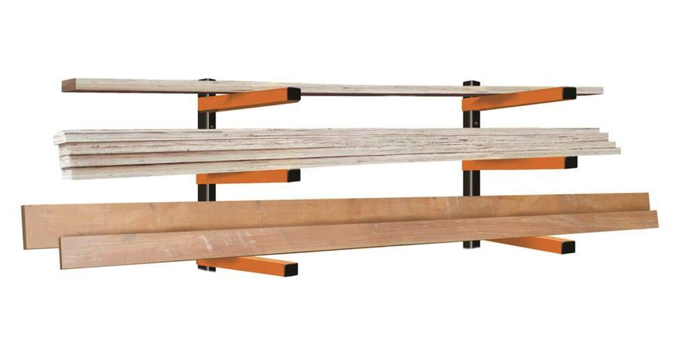 KASTFORCE KF1004 Lumber Storage Rack 3-Level System 110lbs per Level with Durable Sheet Metal Screws, Wood Rack, Workshop Rack