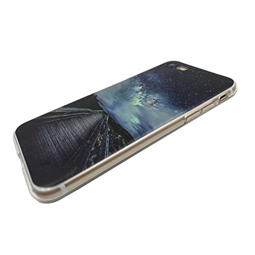 Funda iPhone 8,EUDTH Suave TPU Gel Funda Case Delgado Silicona Fundas Carcasa Espalda para iPhone 7/iPhone 8 (4.7 Pulgadas) Panda Cielo estrellado